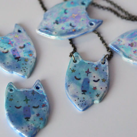 Galaxy Wolf Necklace