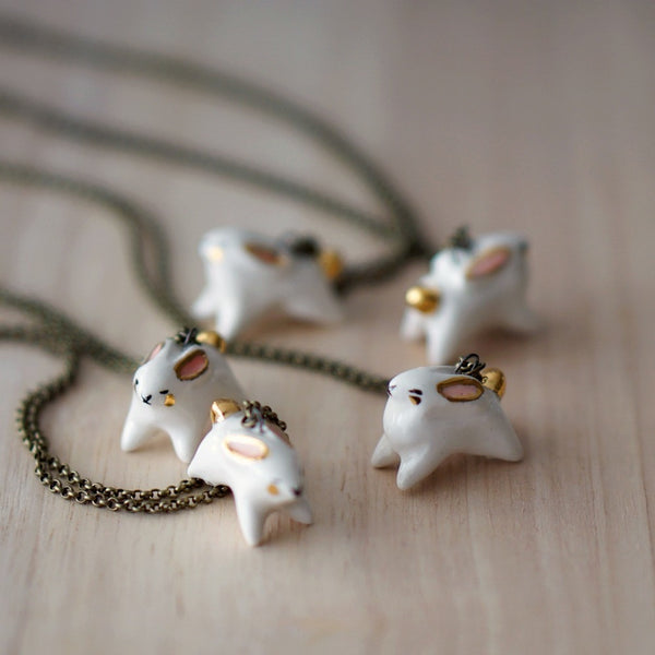 Golden-Tail Bunny Necklace