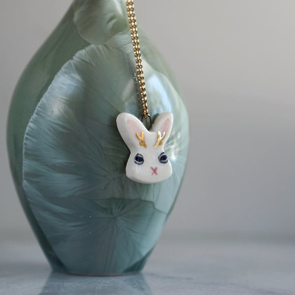 Judgy Jackalope Necklace