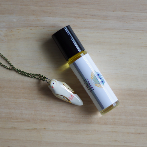 Forest Necklace + Perfume Set