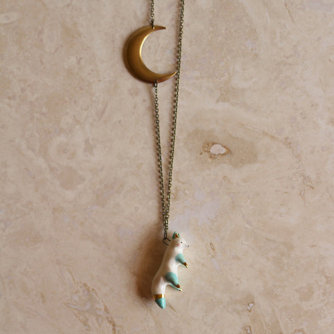 Fox and Moon necklace