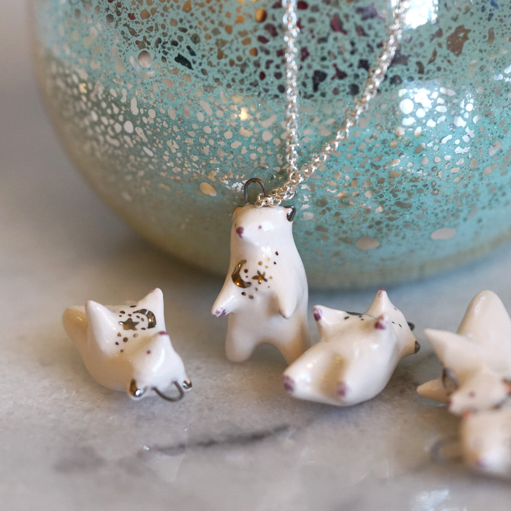 Moonrise Bear Necklace
