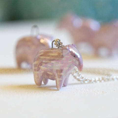 Baby Baku Necklace- Lilac
