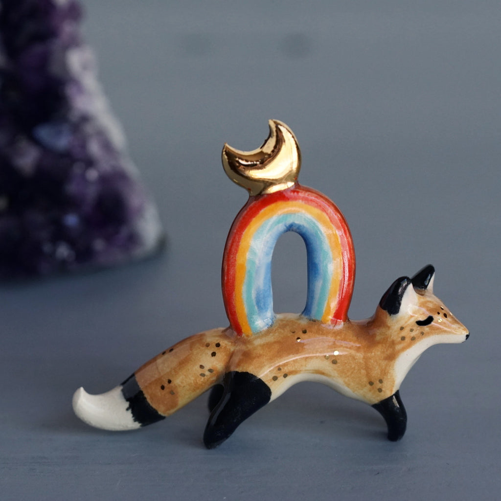 Fox with Rainbow