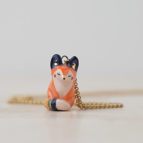 Rainbow Fox Necklace