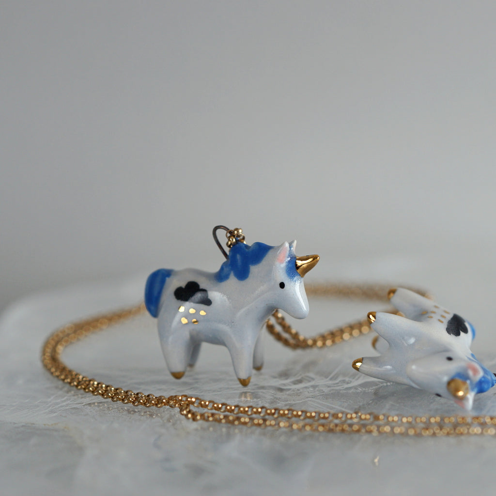 Raincloud Unicorn Necklace