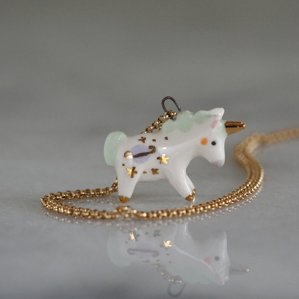Saturn Unicorn Necklace