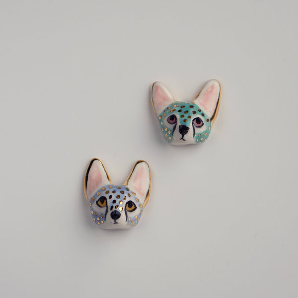 Serval Head Brooch