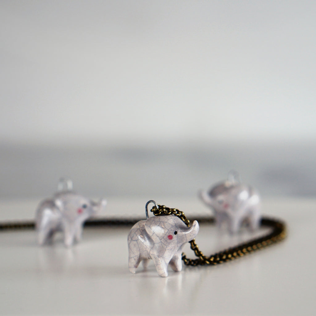 Seconds sale- Elephant necklace