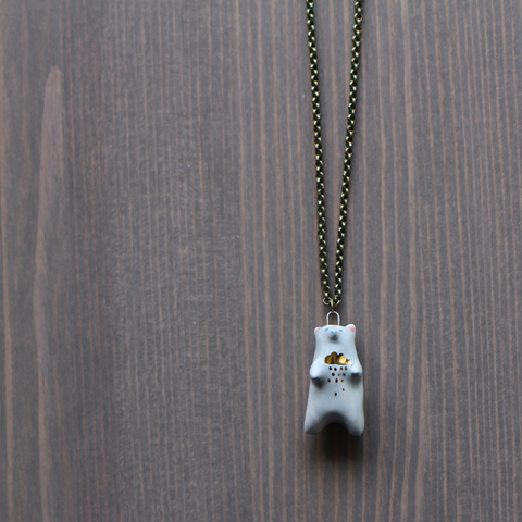 Thundercloud Bear Necklace