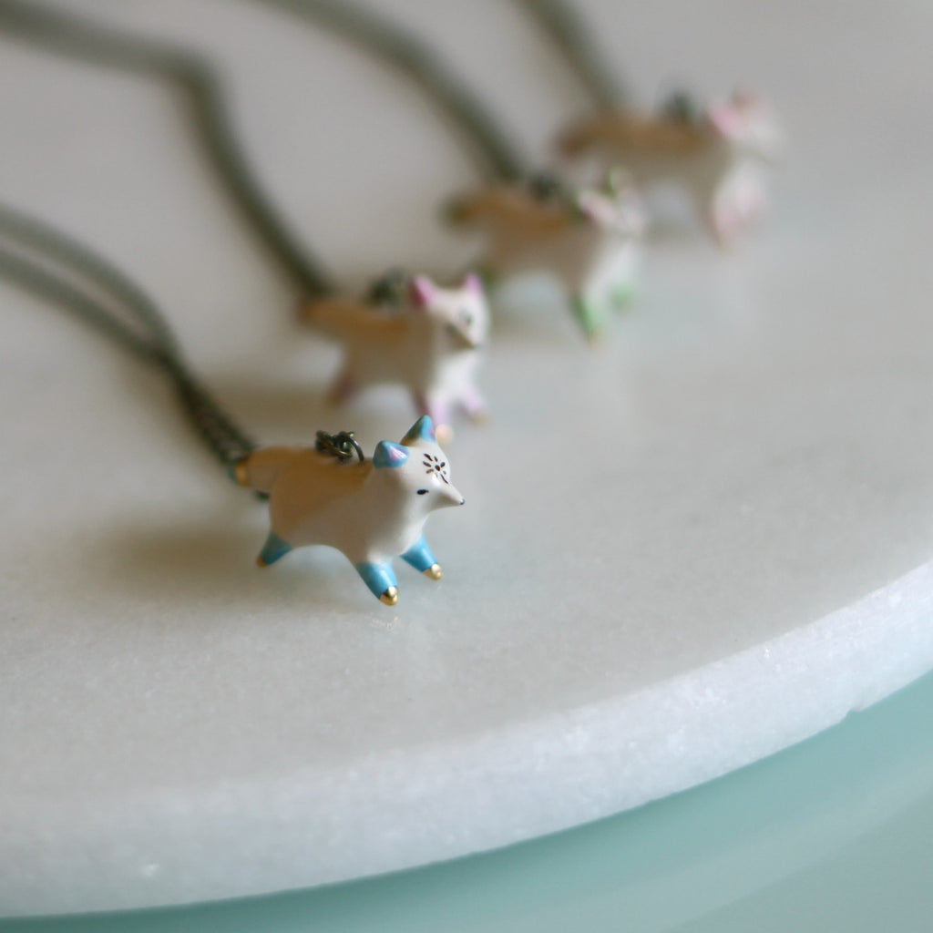 Sunburst Fox Necklace