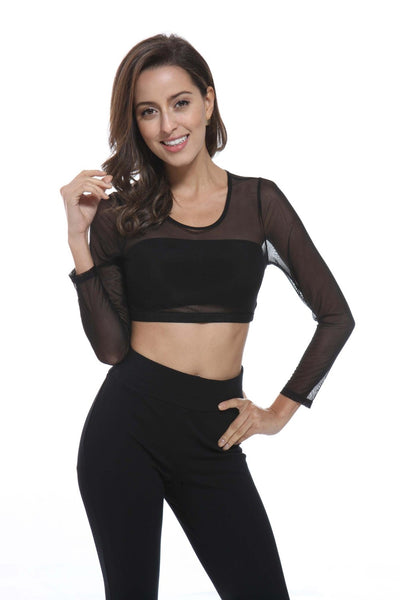 Bamboo Sleeves Crop Top