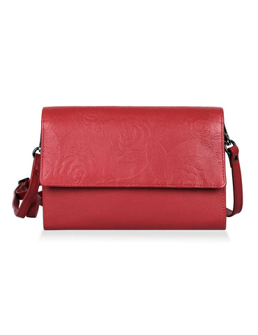 Delia Leather Travel Crossbody Clutch