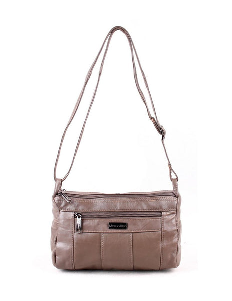 Compact Leather Crossbody Bag