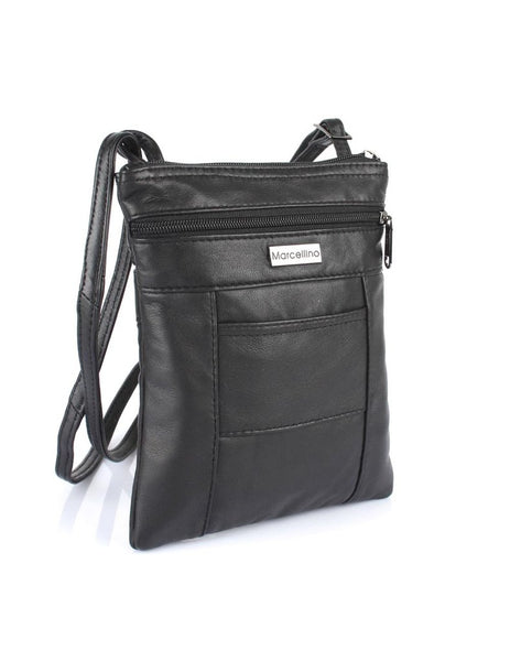 Jamie Leather Crossbody Travel Bag
