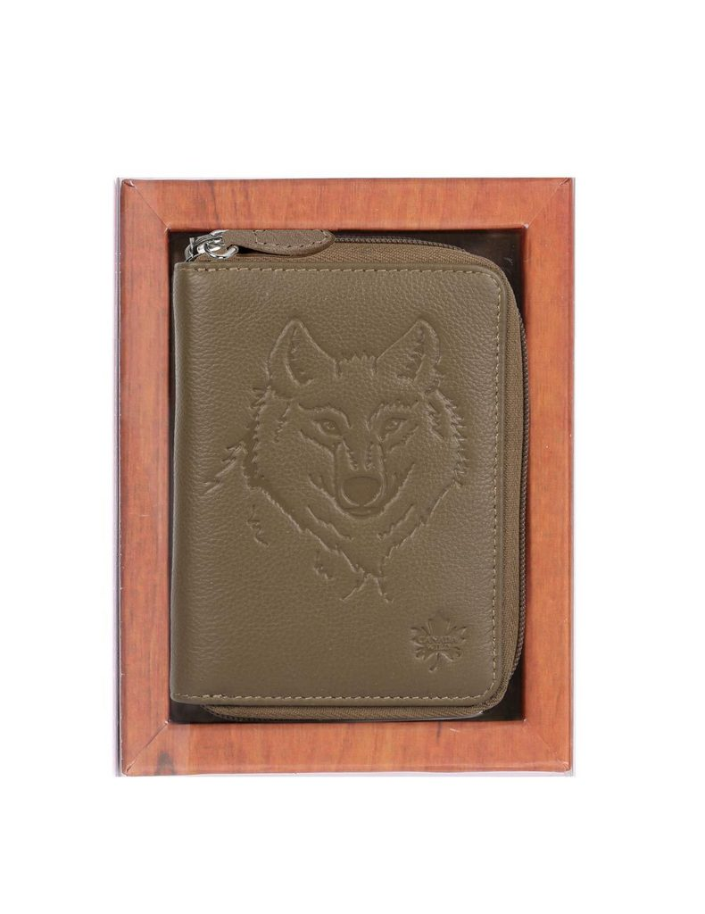 Canada Wild Women's Embossed Leather Wallet