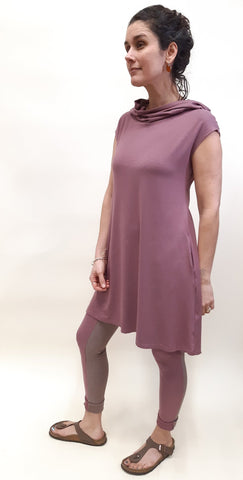 Cap Sleeve Tunic with Pockets & Hoodie