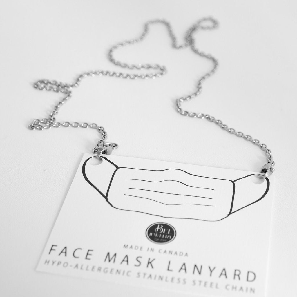 Face Mask Lanyard - Stainless Steel