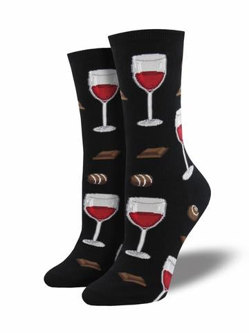 Ladies Graphic Cotton Crew Socks