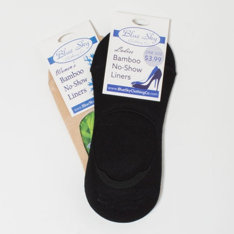 Ladies Bamboo No-Show Sock Liners