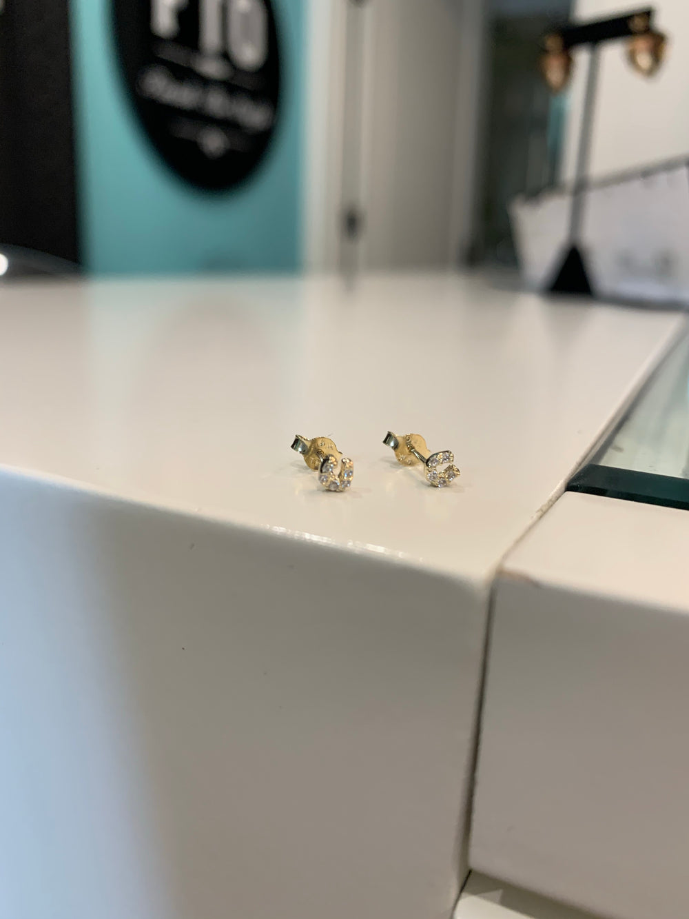 Horseshoe Studs with CZ