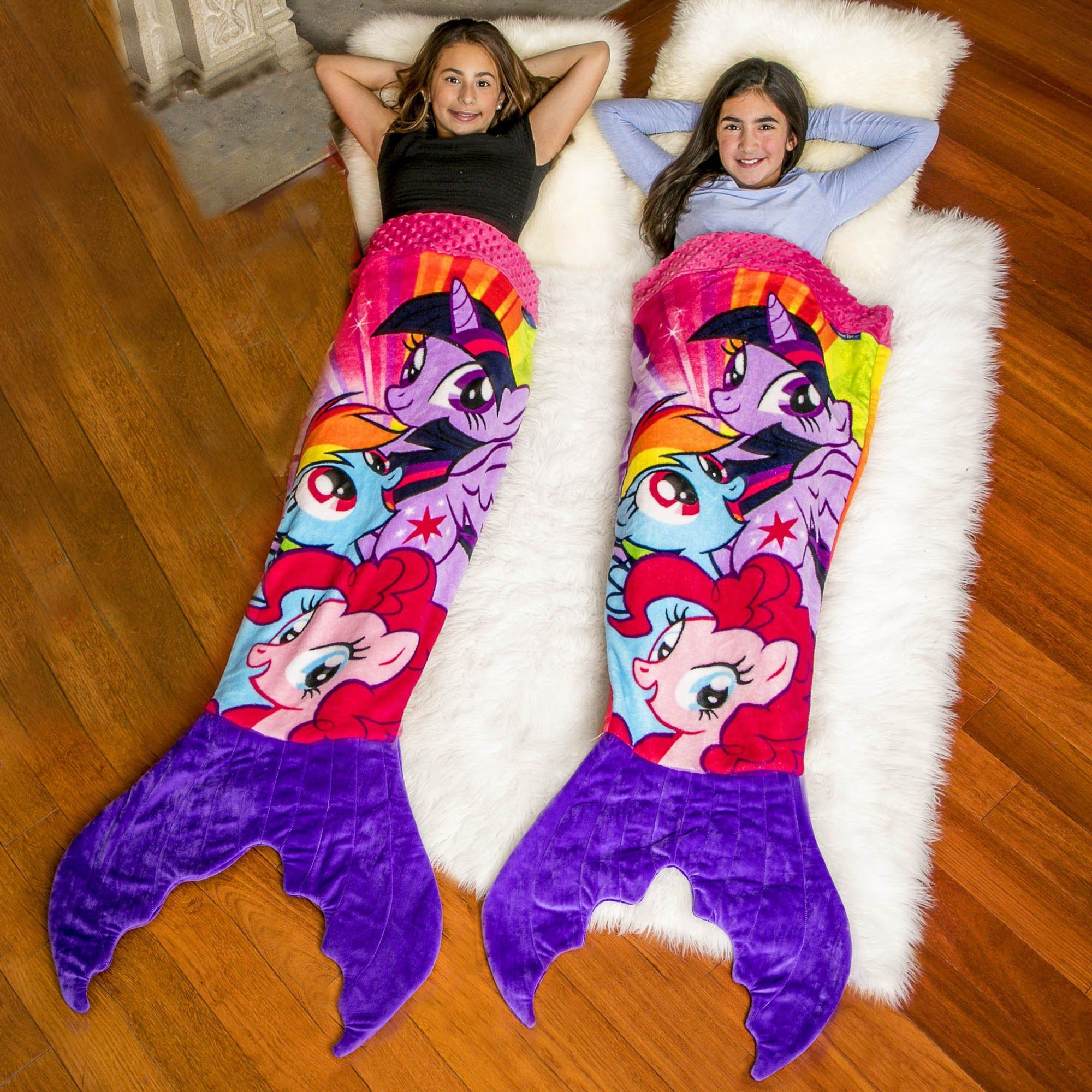 the official my little pony mermaid blanket by blankie tails