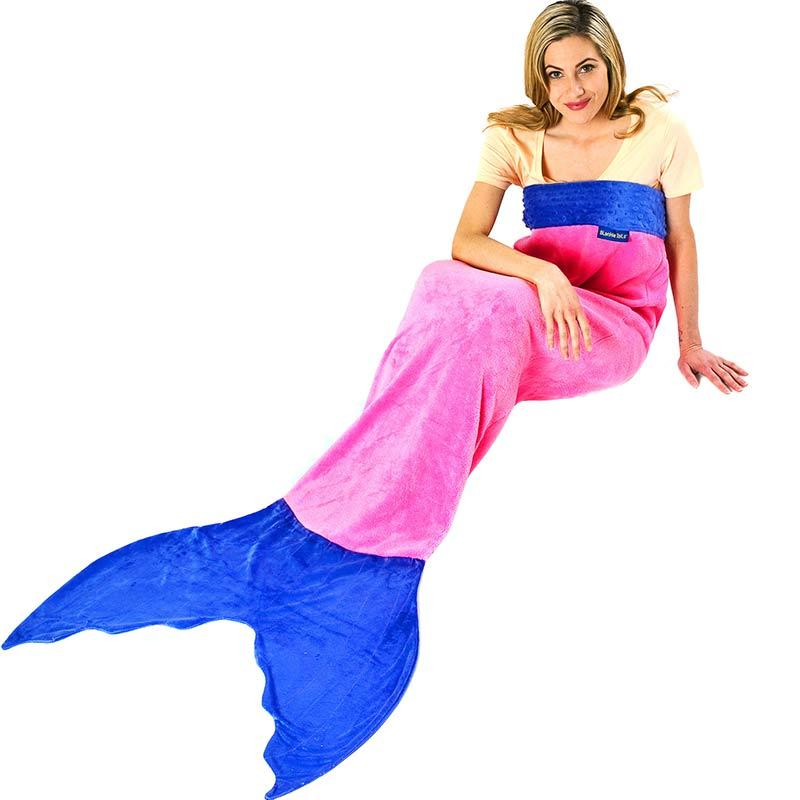Blankie Tails Adult Aqua Mermaid Blanket