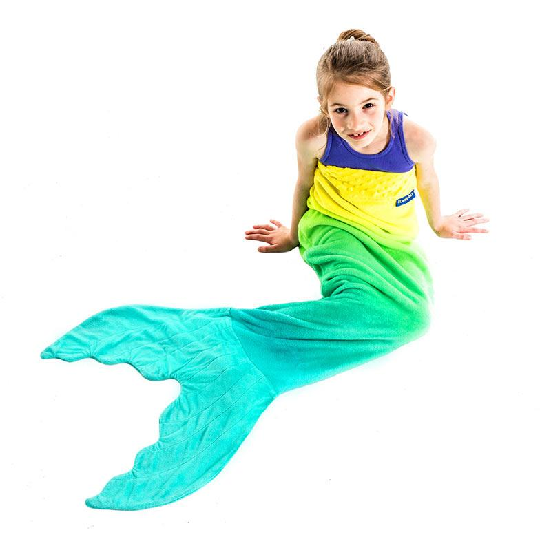 224abeca4 Mermaid Tail Blanket for Kids with Unique Ombre Design - Blankie Tails