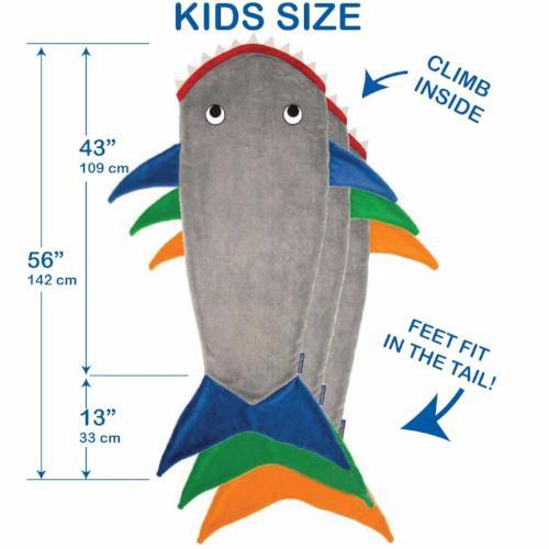 Kids Shark Blanket by Blankie Tails® - Assorted Colors - Blankie Tails - 7