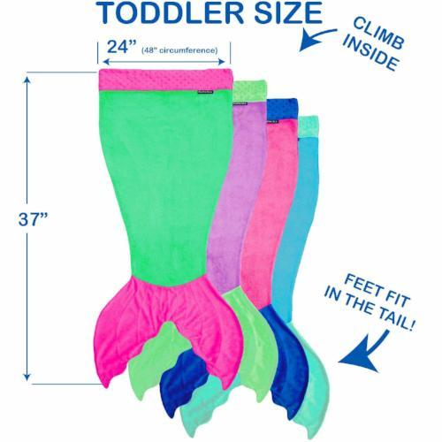 Toddler Mermaid Blanket by Blankie Tails® - Assorted Colors - Blankie Tails - 8