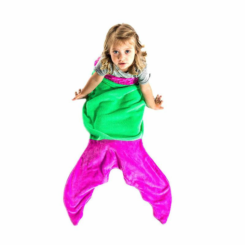 Blankie Tails Toddler Purple Mermaid Blanket