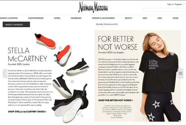 FBNW featured in Neiman Marcus Story: Socially Conscious Brands