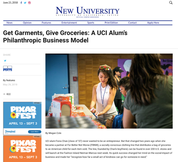 FBNW Fiona Chan Featured in UC Irvine New University