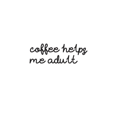 Coffee Helps Me Adult - Unisex Fleece Sweater