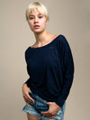 FBNW Always Late Long Sleeve Dolman Top: Fashion That Gives Back