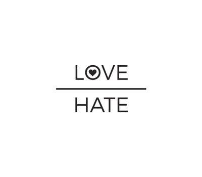 Love Over Hate - Long Sleeve Tee - FOR BETTER NOT WORSE Fashion That Gives Back Ending Child Hunger In The US
