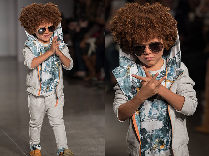 Jaiden Garcia Marin + Morgan petitePARADE Kids Fashion Week