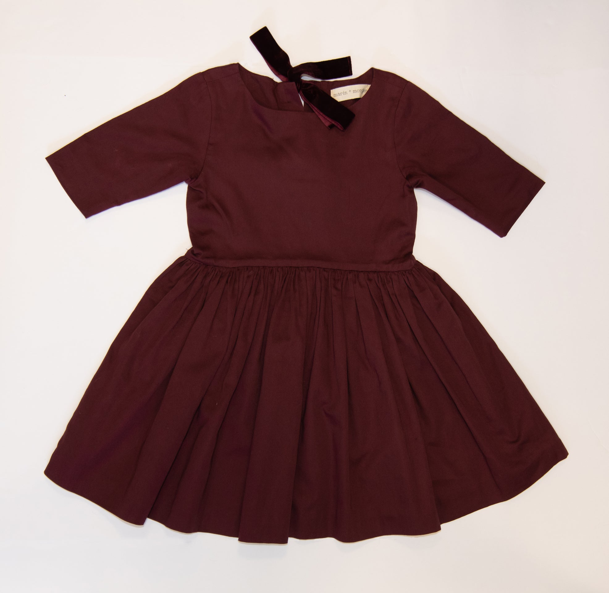 burgundy alison dress