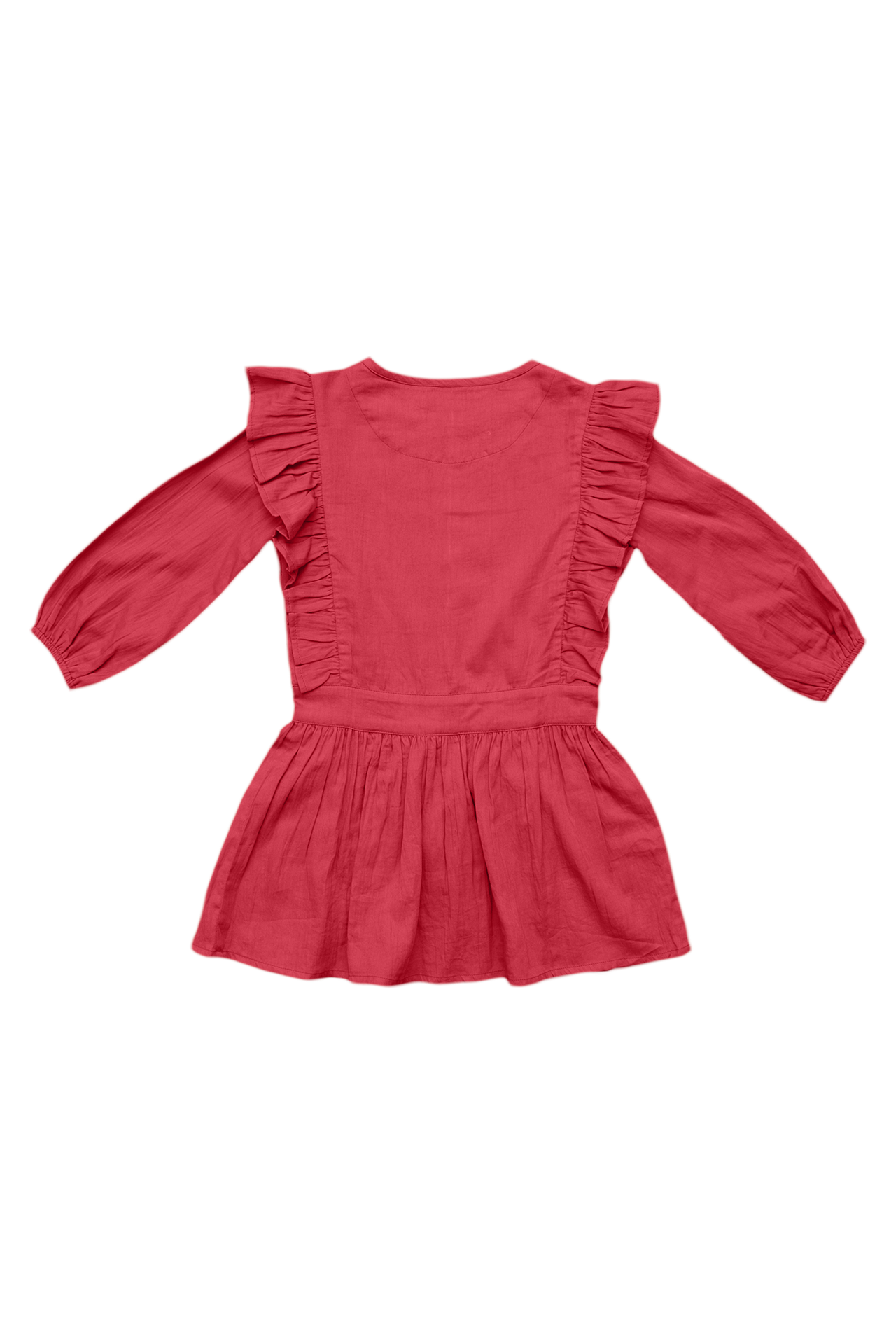 3/4 sleeve dress with ruffle detail