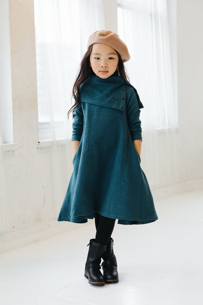 tent dress with cowl neck