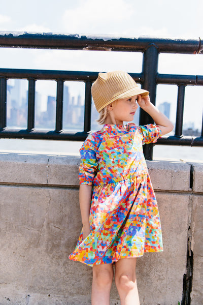 3/4 sleeve high low dress