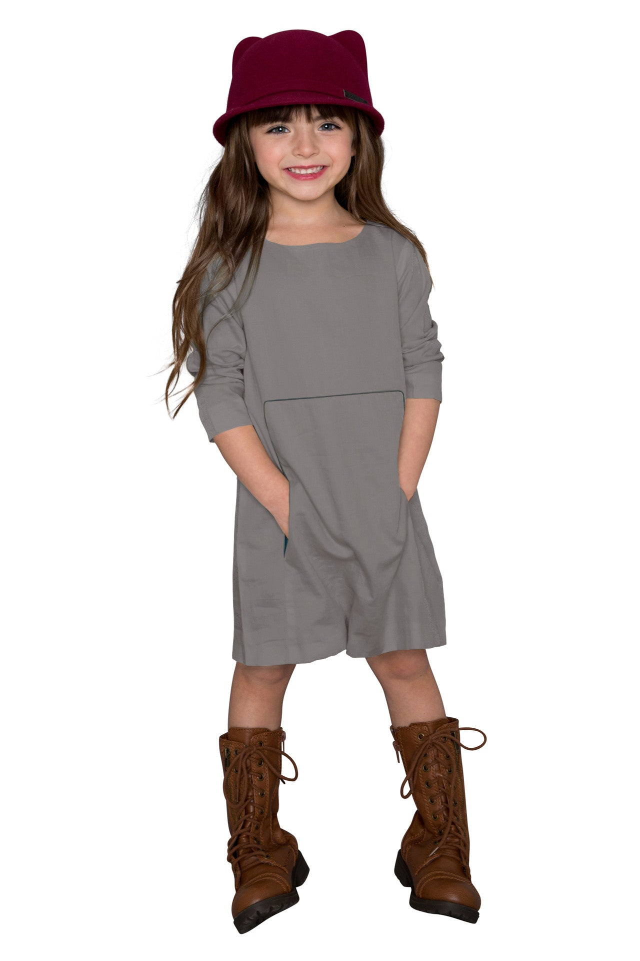 a-line tunic dress with kangaroo pocket