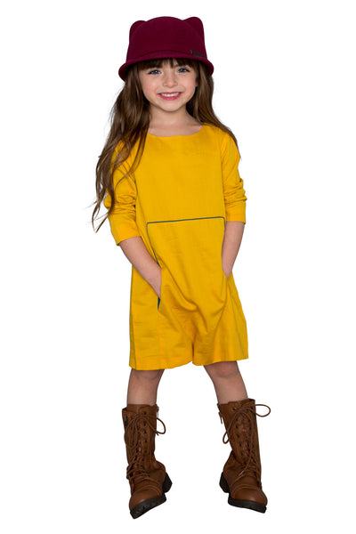 a-line tunic dress with kangaroo pocket-FINAL SALE