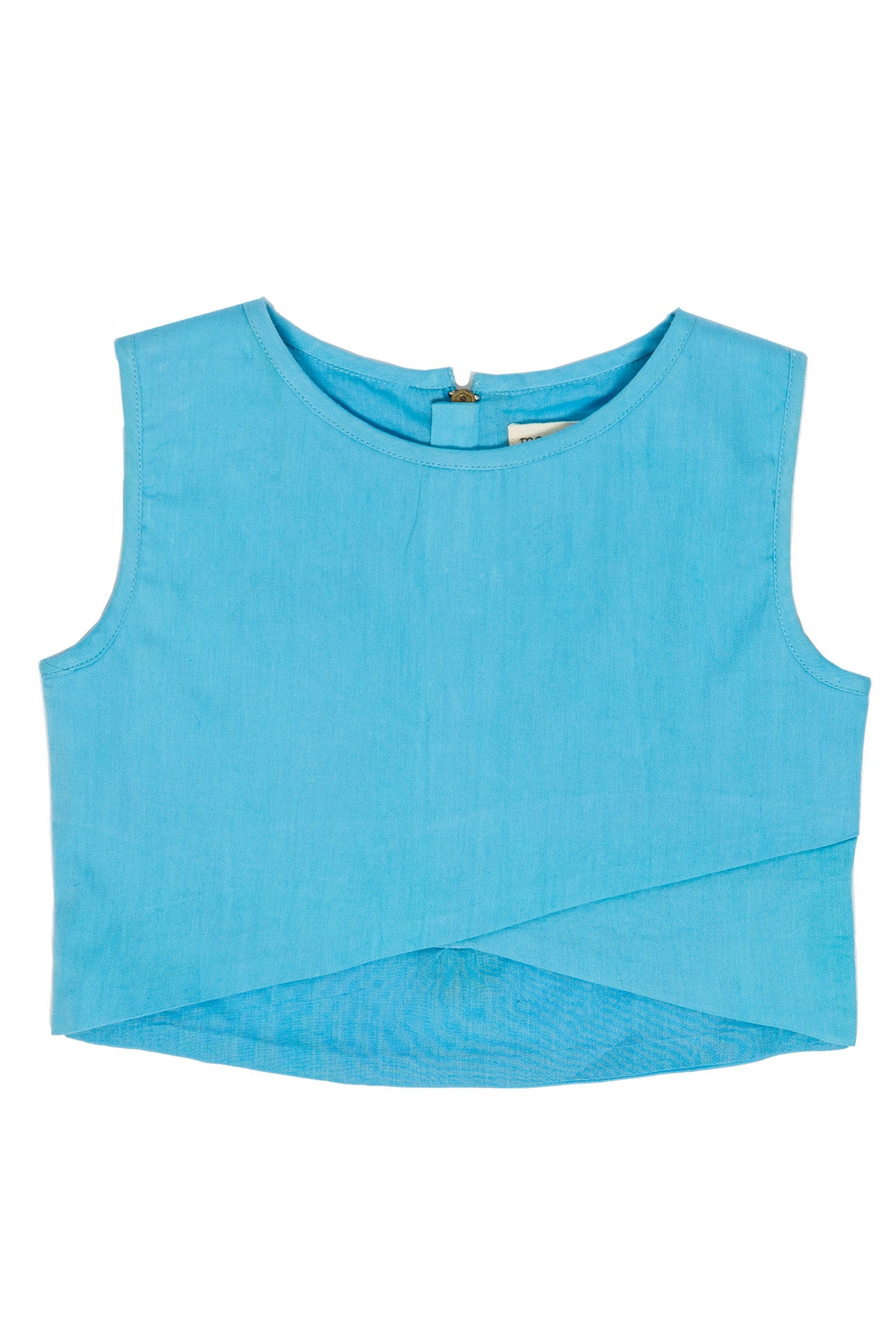sleeveless crossover crop top