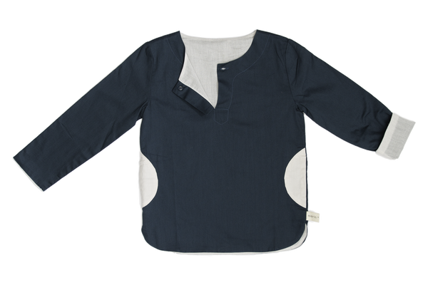 reversible colorblock tunic
