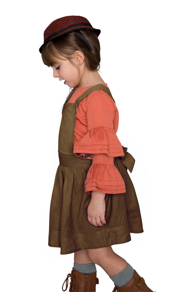 Pinafore Skirt with back bow detail