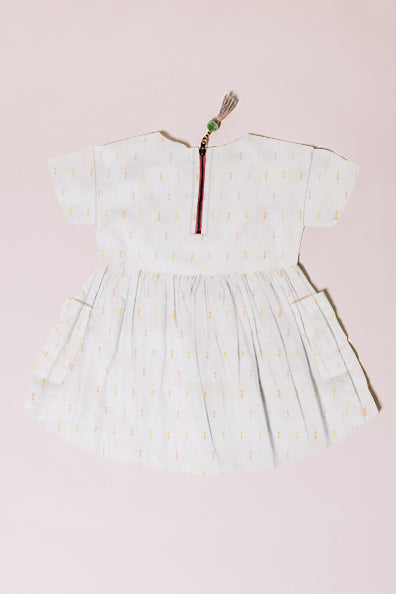 swiss dot baby lila dress