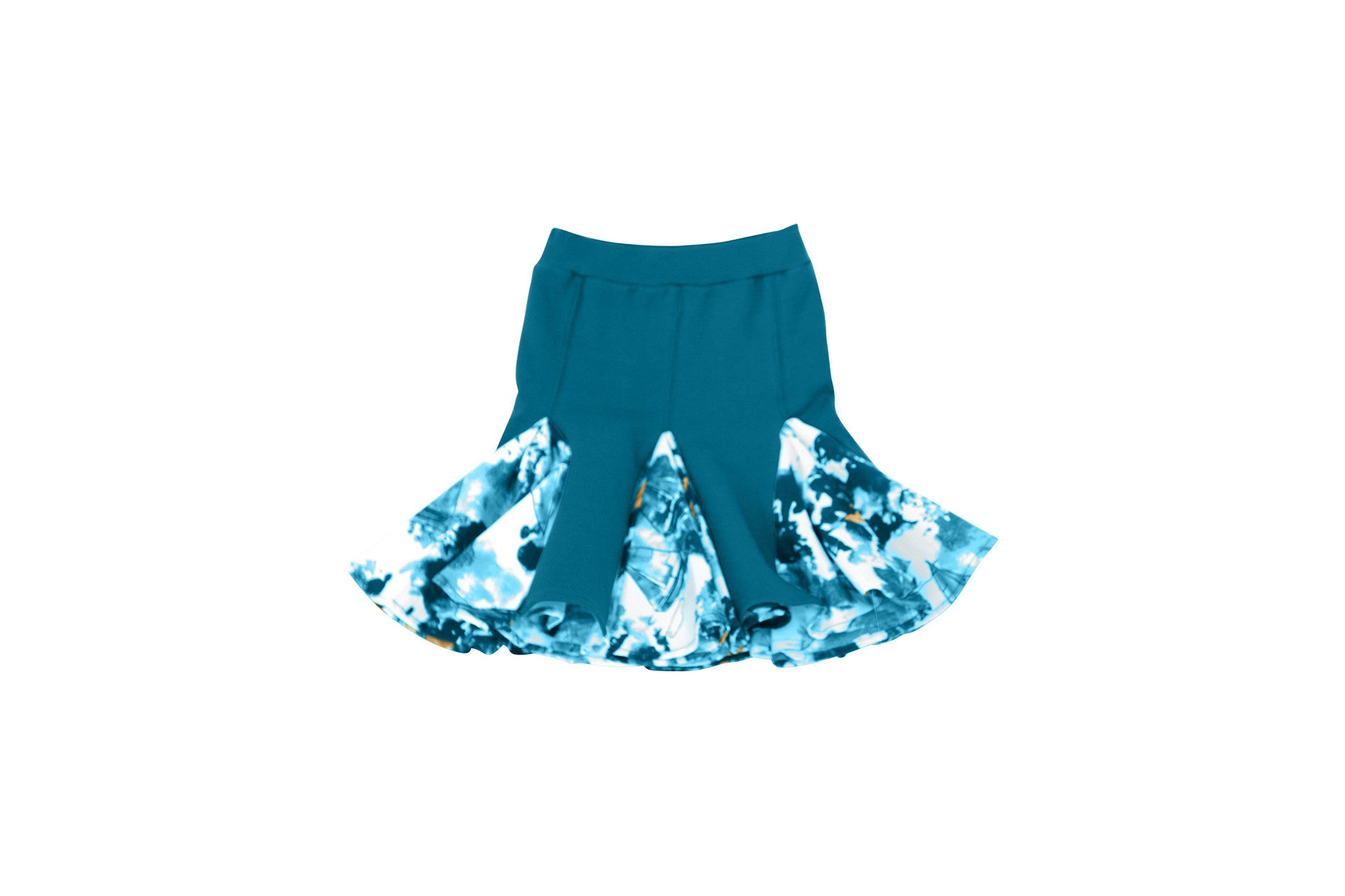 a line skirt with godet