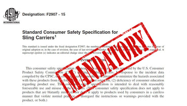 Breaking News:  Sling Standard F2907 Now Mandatory for the USA!