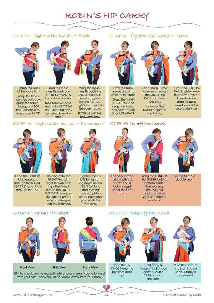 Global Tapestry - Inoshi Baby Carrier - Get Going Guide - Robins Hip Carry